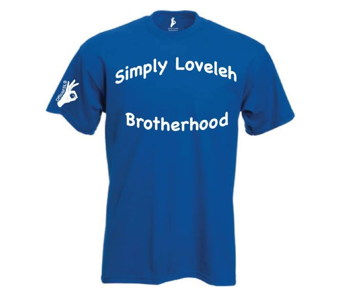 Simply Loveleh Brotherhood Arch Text T-shirt